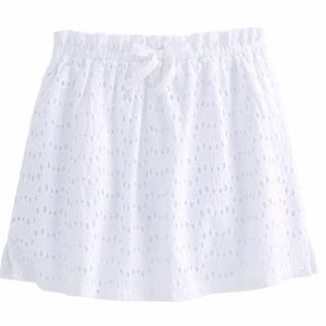 NWT Vineyard Vines Girls White Eyelet Skirt